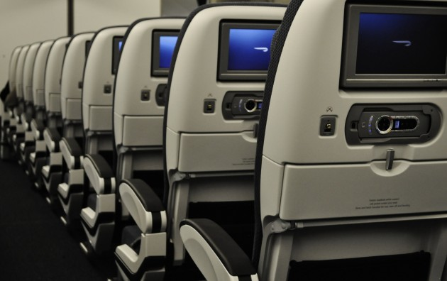 British Airways Boeing 777-336ER World Traveller Cabin