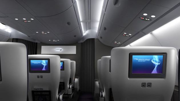 British Airways A380 World Traveller Plus Premium Economy Class Cabin Interior