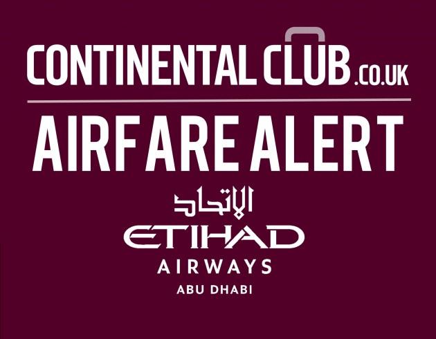 Continental Club Air Fare Alert EY